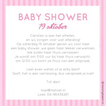Uitzonderlijk Baby Shower Uitnodiging Tekst LRD-79 | Wofosogo #FL97