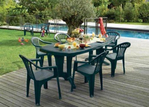 Salon De Jardin Teck Gamm Vert - Reconquetefrancaise.fr with ...