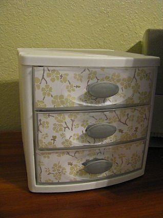 Plastic Drawer Makeover This Could Add Some Fun To The