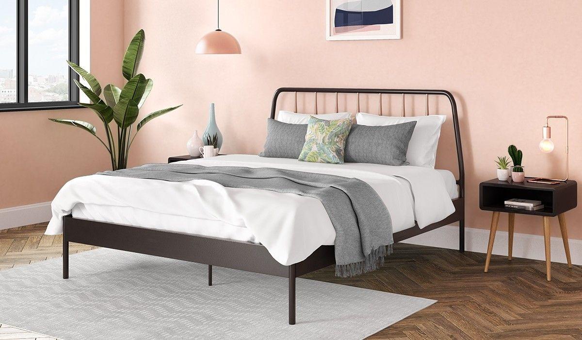 135cm Bed Frame Strand Metal Black Copper Black Metal Bed Black Metal Bed Frame Black Bed Frame