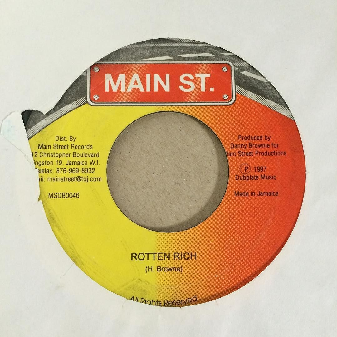 Quintessential #90s #dancehall #reggae #vibe on this #riddim #version #45 #bside from Main Street Records with production credits for Danny Brownie  #soca #mix #rave #dance #club #radio #rap #hiphop #instrumental #beats #rhymes #instrumental #history #historyofmusic #turntablism #portablist #anthem #music by petebodegavinyl http://ift.tt/1HNGVsC