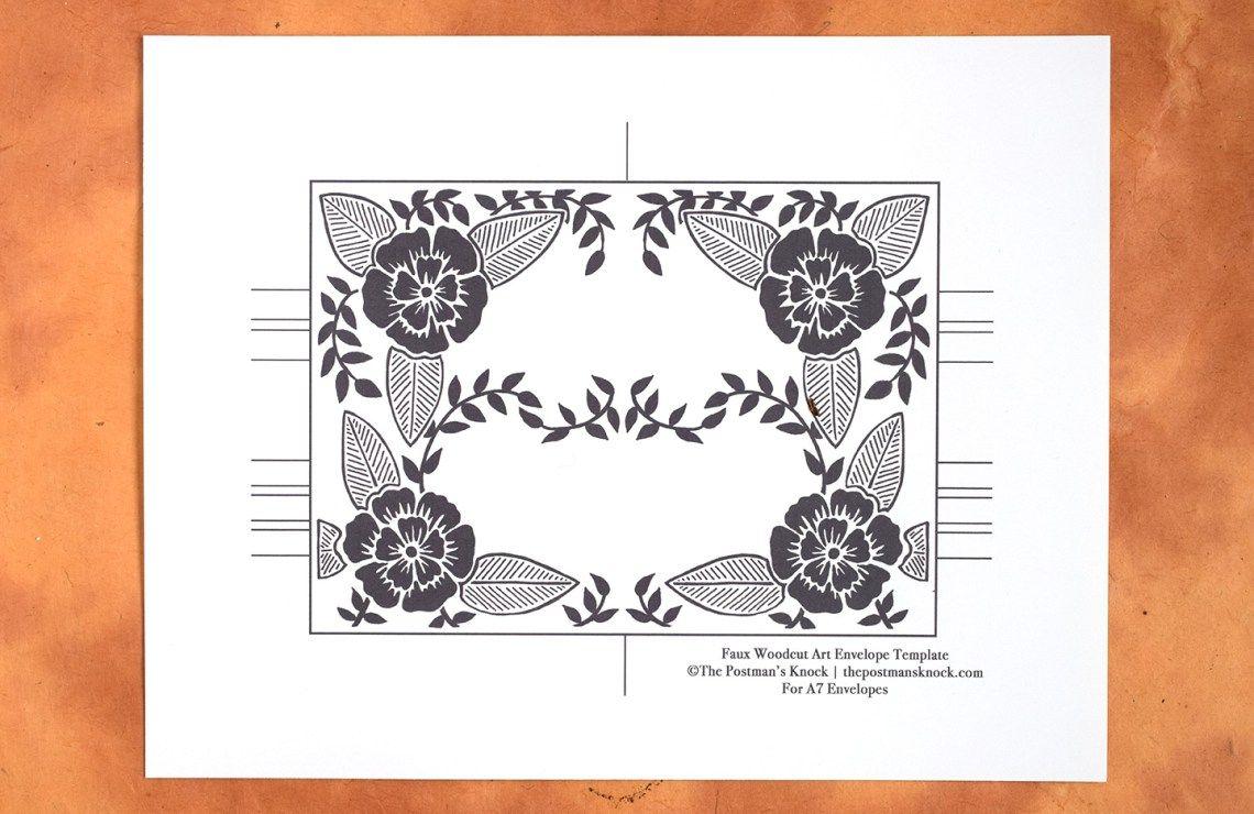 free   block printed envelope template