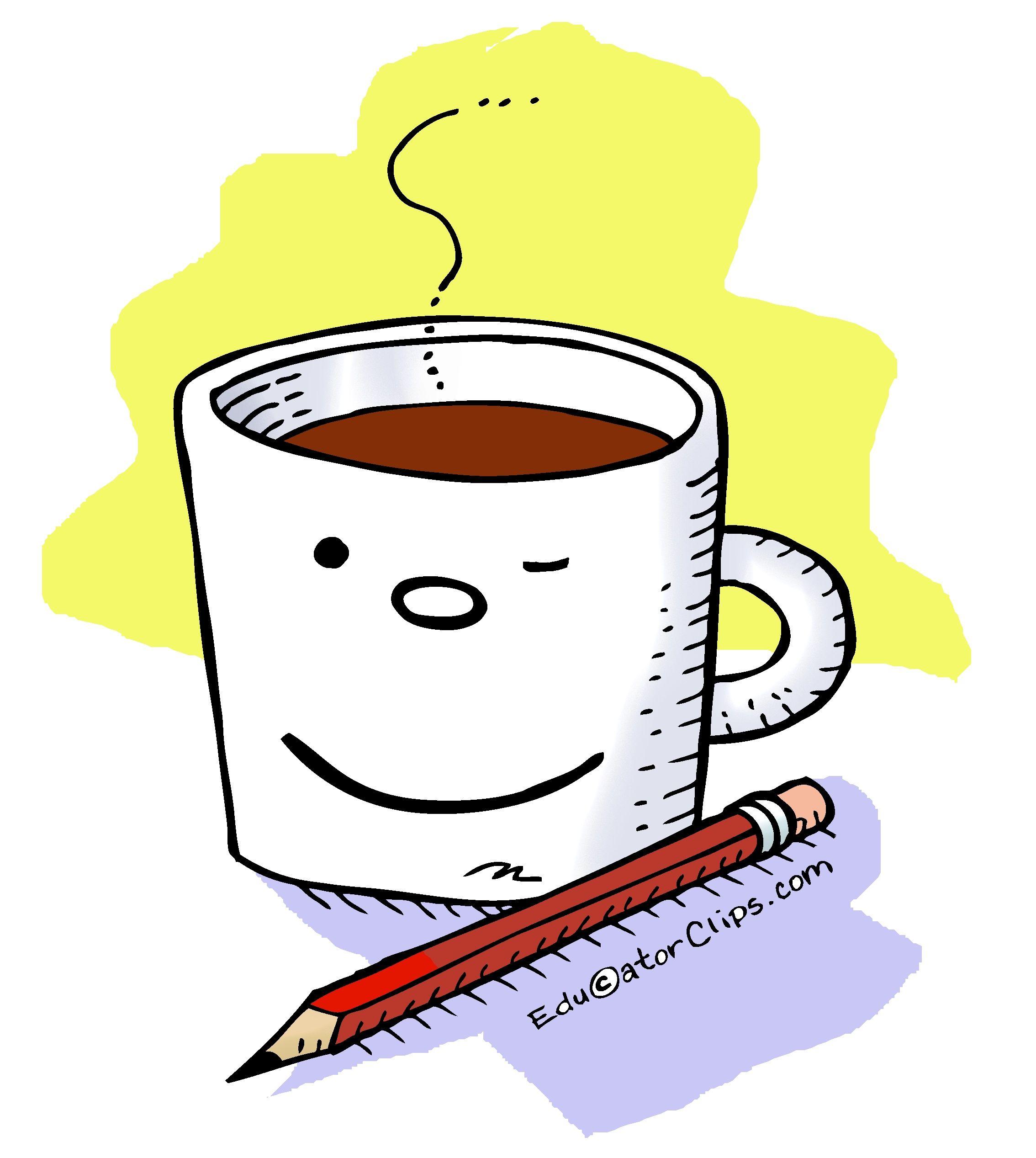 Coffee Mug Clip Art, more at https://EducatorClips.com ...