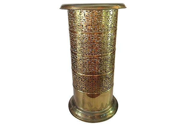 Reticulated Brass Umbrella Stand on OneKingsLane.com