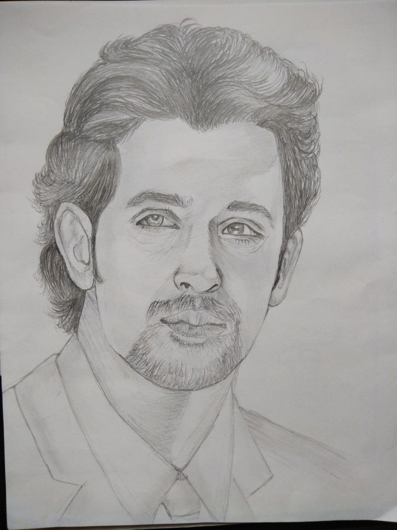 Hritik roshan sketch hrithik roshan pencil portrait character sketches sketch painting kites