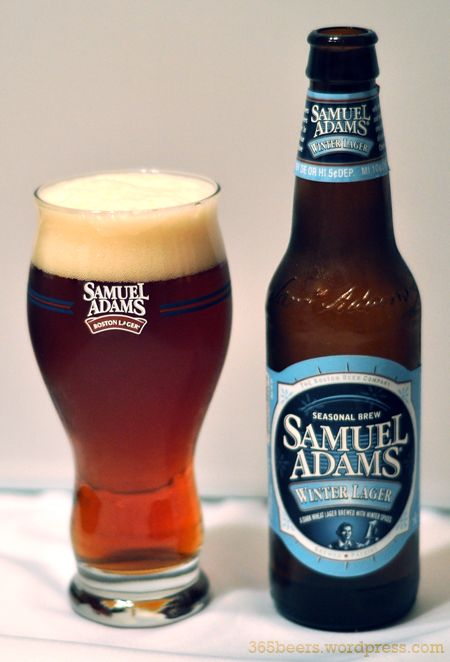 SAMUEL ADAMS WINTER LAGER BEER GLASS draft brew brewery pint seasonal bar NEW