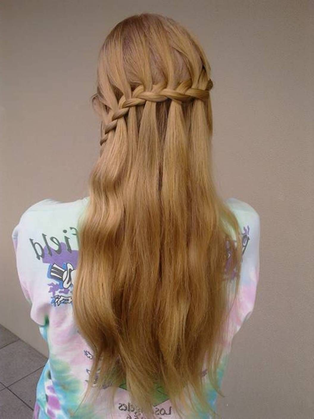 waterfall braid teenage hairstyles for teen girl - http ...