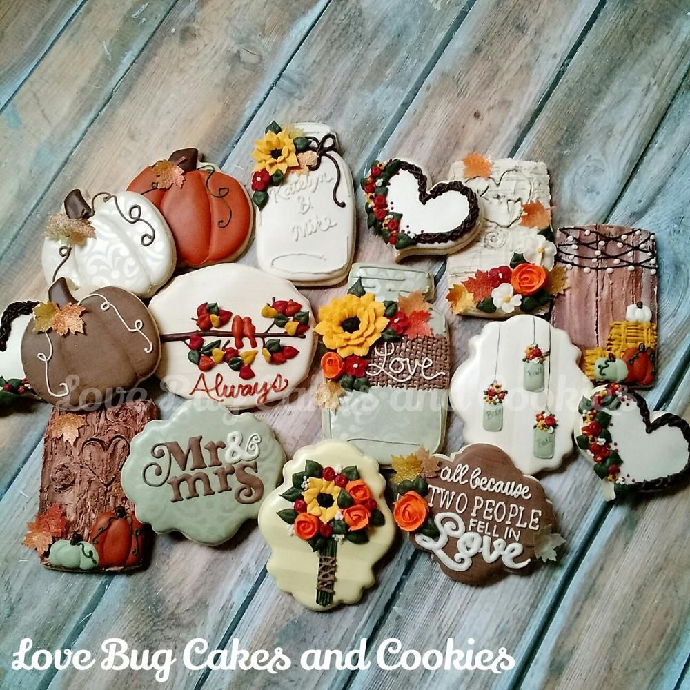 Fall Bridal Shower Cookie Connection Wedding Shower Cookies