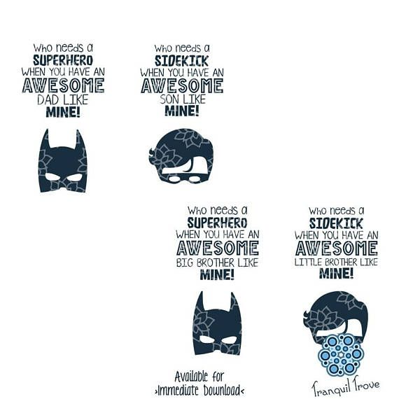 Svg Dxf Design Set Of 4 Awesome Superhero And Sidekick Superhero Superhero Batman Batman