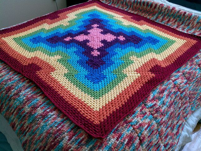 Star Burst Blanket pattern by Becky Simmons