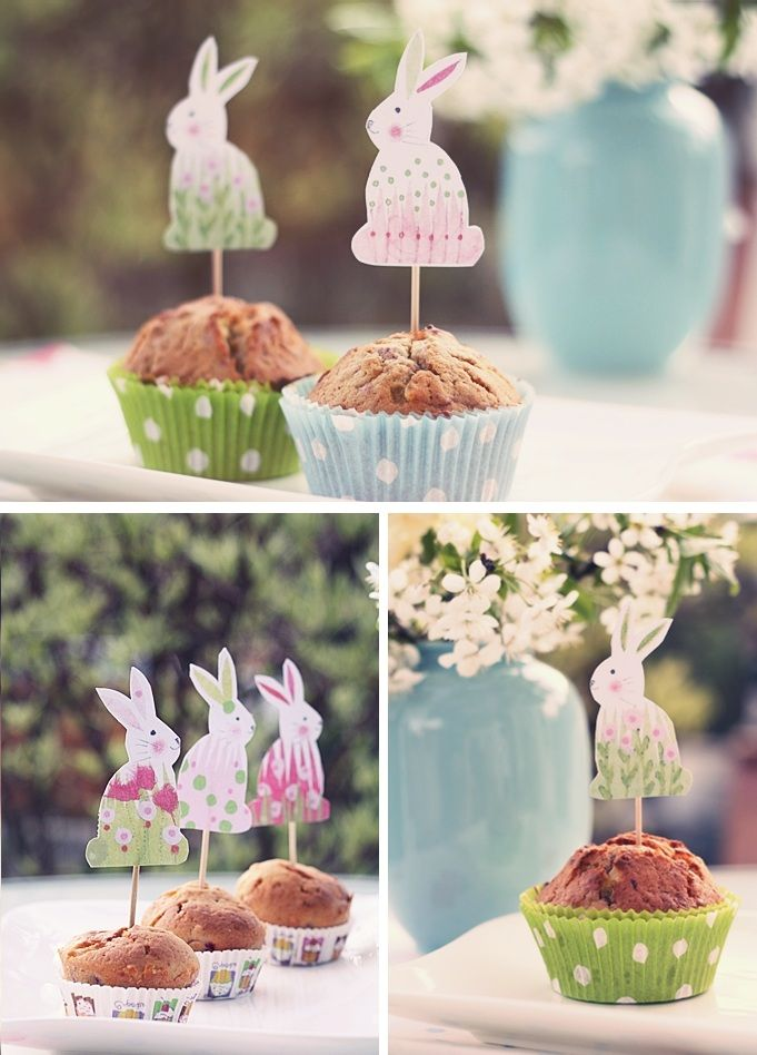 * magnoliaelectric: himbeermuffins {'happy easter'}