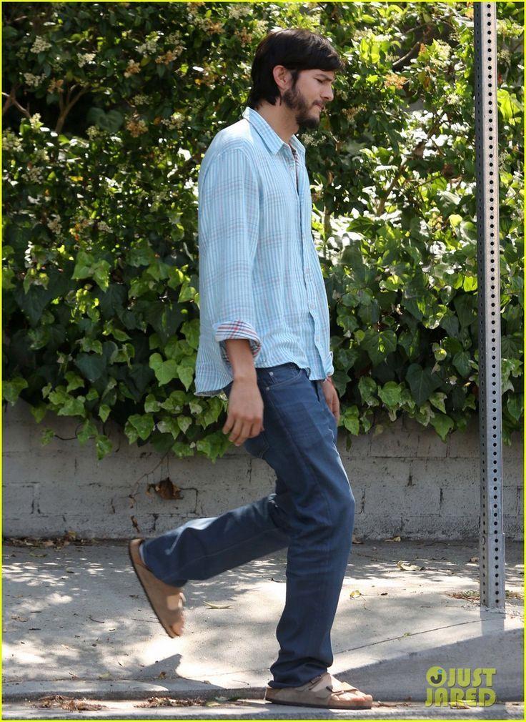 Ashton Kutcher In Birkenstock Celebrity Sightings