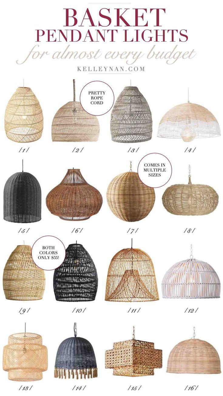 The best affordable woven basket pendant lights for the kitchen (or any room!) #lighting #lightingdesign #pendantlighting