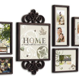 Beyond Words 6 Piece Vintage Garden Picture Frame Set Antique Brown Display Your Memories With This Vintage Garden Decoracion De Unas Cuadros Vintage Hogar