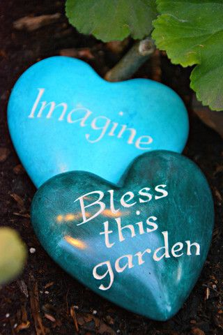Garden Heart Rocks Encourage imagination or a happy garden with the Fair Trade Garden Heart Rocks. Bright, hand dyed soapstone rocks make a lovely gift and sentiment for the dreamers or green-thumbed in your life.  Our Fair Trade Garden Heart Rocks.and hand painted by master artisans in Kenya out of the abundant to the area Kisii stone. Kisii is naturally white to pink in color but absorbs dye beautifully.