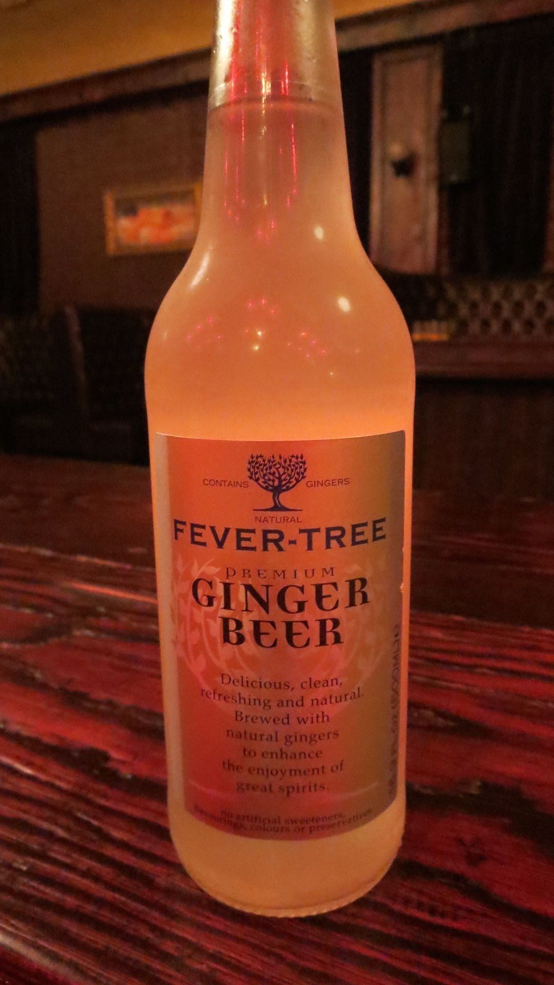 Fever Tree Ginger Beer, the best. Not over the top sweet