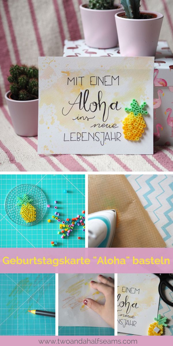 "Photo of Tinker DIY birthday card ""Aloha"". With the sweet pineapple a"