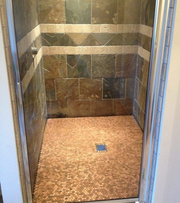 11 Best Penny Flooring Posts Projects And Ideas Penny Floor Shower Floor Amazing Showers