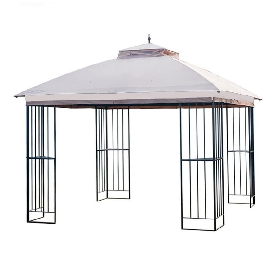 Garden Winds Replacement Canopy For Garden Treasures Steel Gazebo Standard 350 Lcm1309b With Images Steel Gazebo