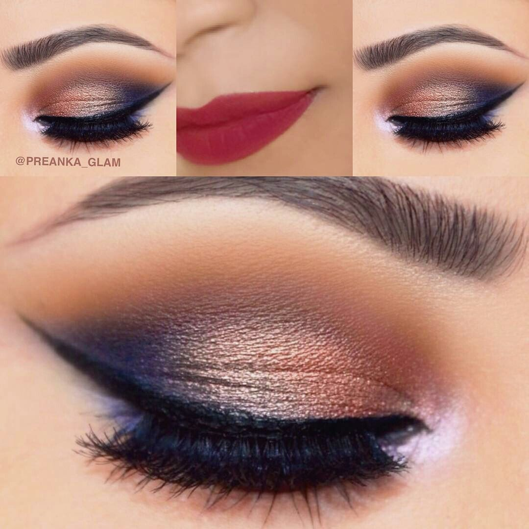 Makeup #EyeMakeupArt  Blue eye makeup, Blue dress makeup, Navy