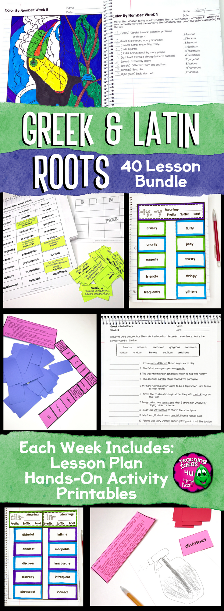 Greek and latin roots lesson plans middle school
