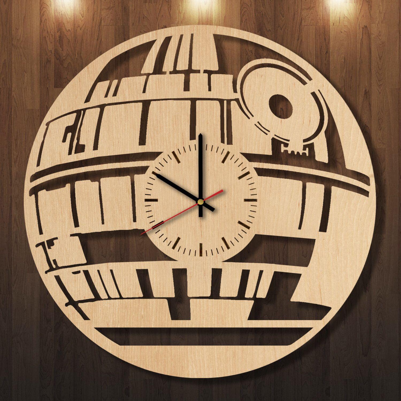 Star Wars wooden clock, wall clock, wall art, wall decor, wood clock ...