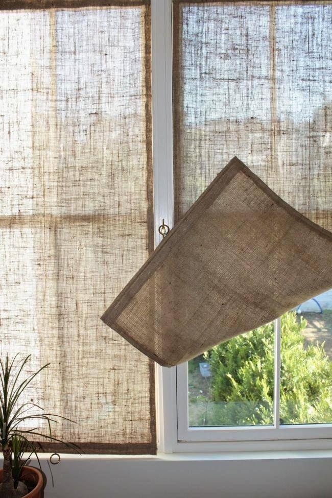 20 DIY Decorating Ideas Using Burlap | Cortinas, Gallos y Para el hogar