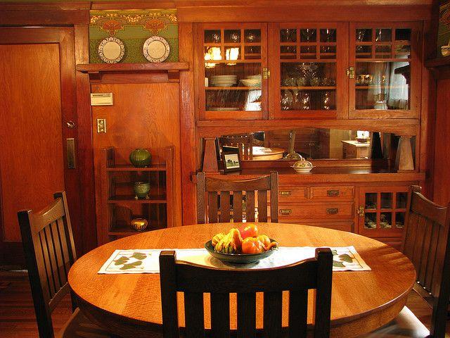 The Dining Room Built In Craftsman Dining Room Craftsman Interior Craftsman Furniture