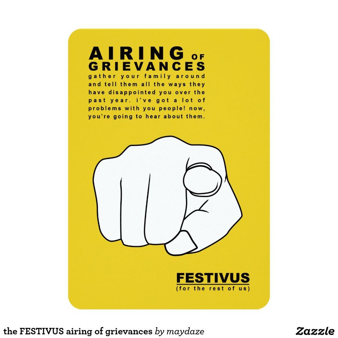 The Festivus Airing Of Grievances Card Festivus