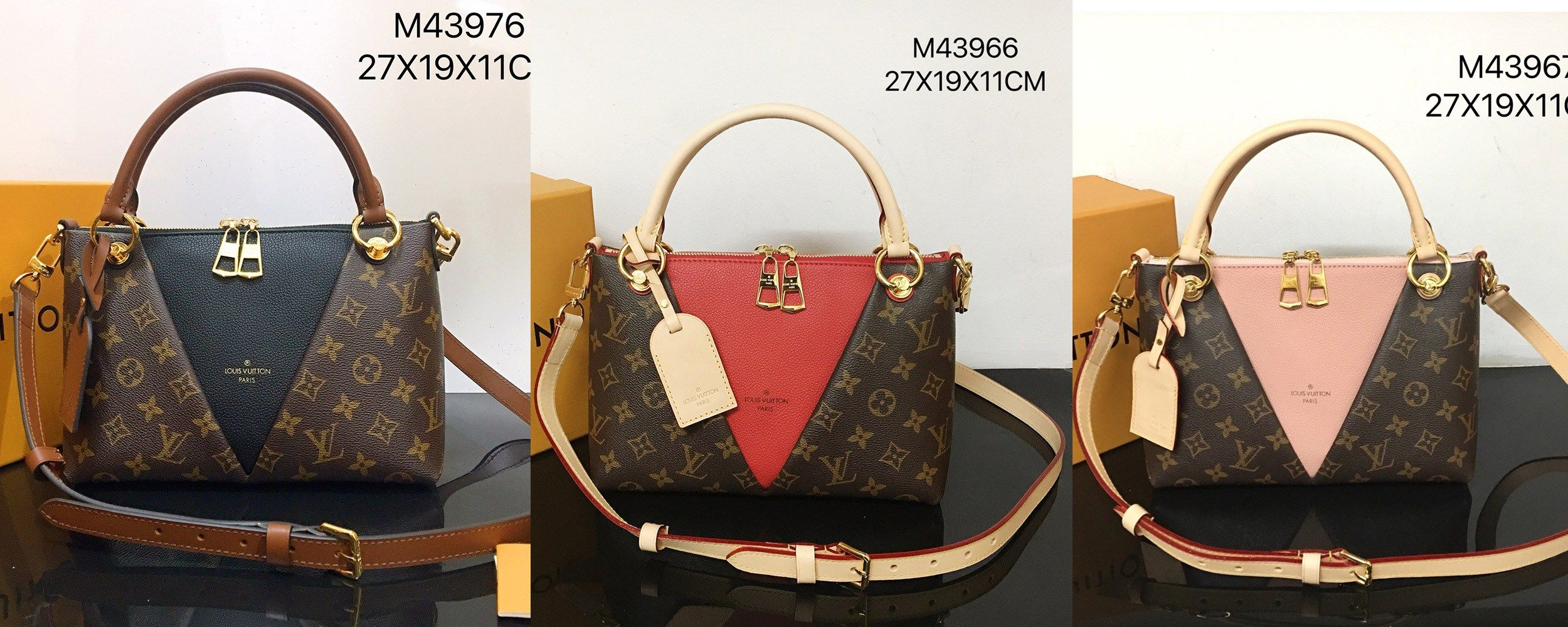 Louis Vuitton V Tote Bb Handbags