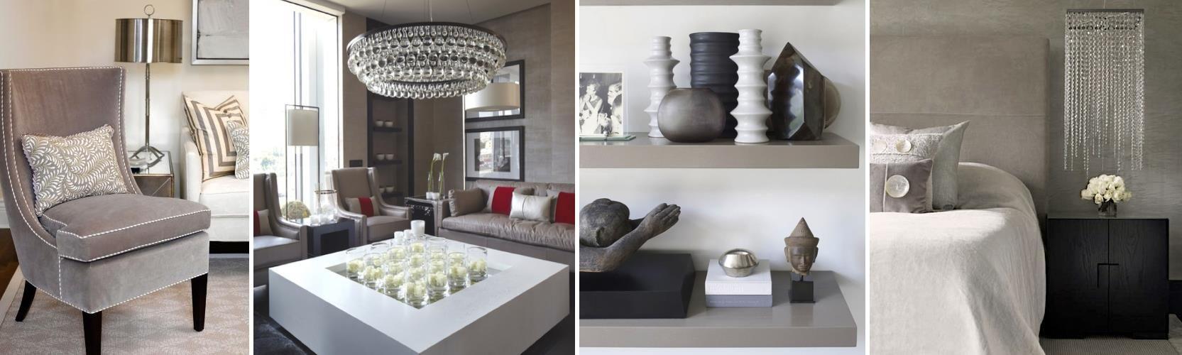 Taupe interior design - Feminine Taupe Interior Design