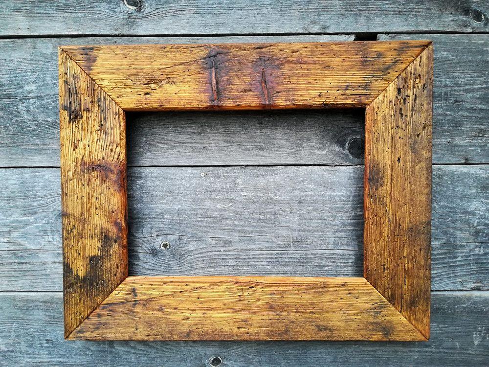 Bilderrahmen - Holzbilderrahmen,Altholz 52x42 - ein Designerstück ...