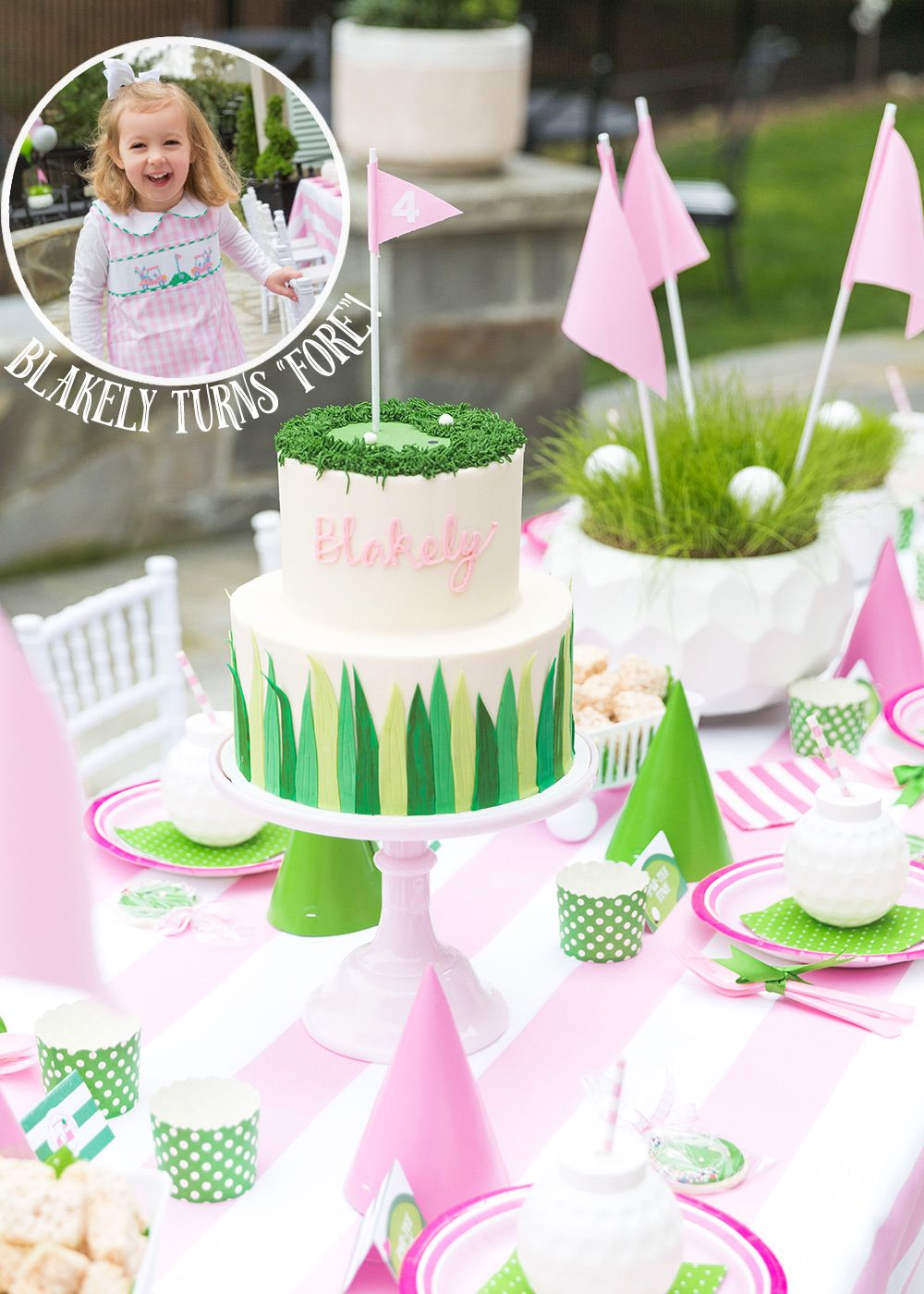 Blakely Turns FORE Golf Partee First Birthday Cakes 4th