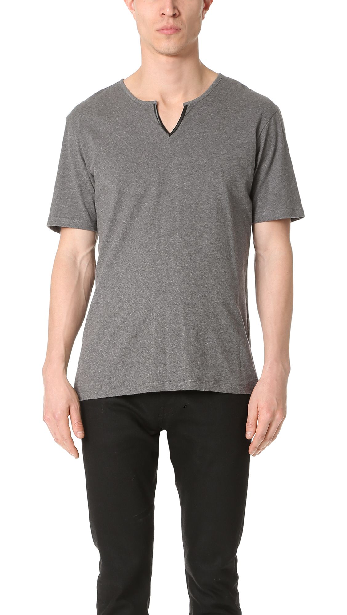 4cc8534c15c THE KOOPLES Leather Detail Tee. #thekooples #cloth #tee | The ...