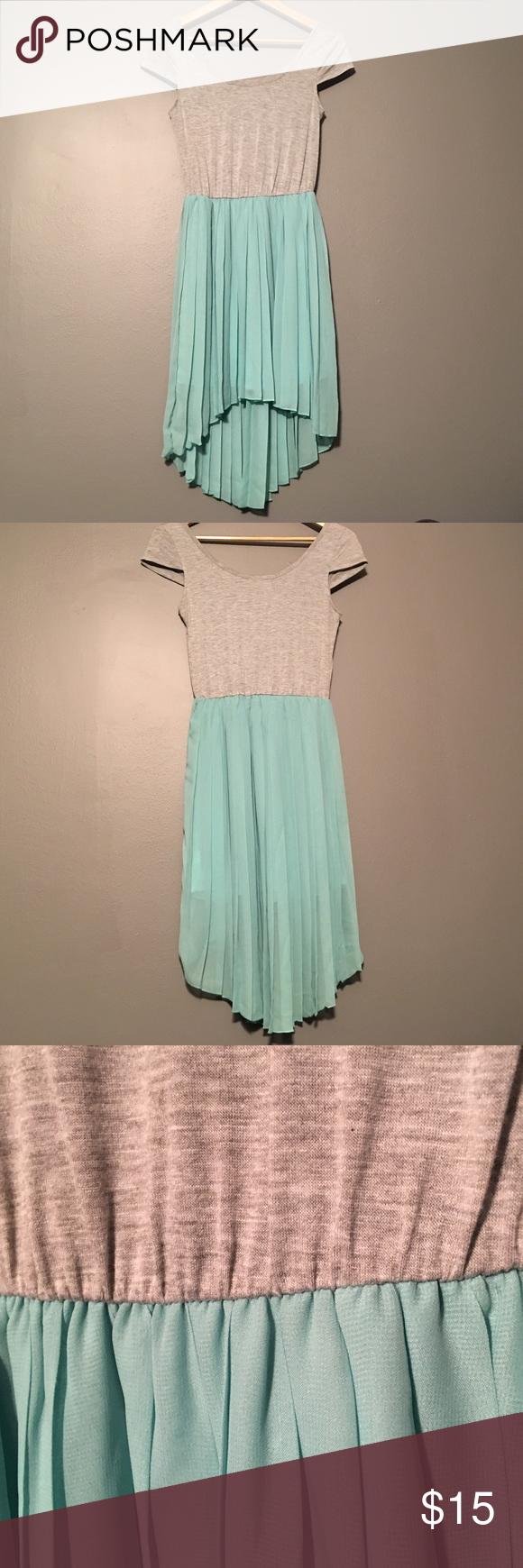 Charlotte Russe Hi-Low dress in mint/grey Hi-Low dress in mint/gray Charlotte Russe Dresses High Low