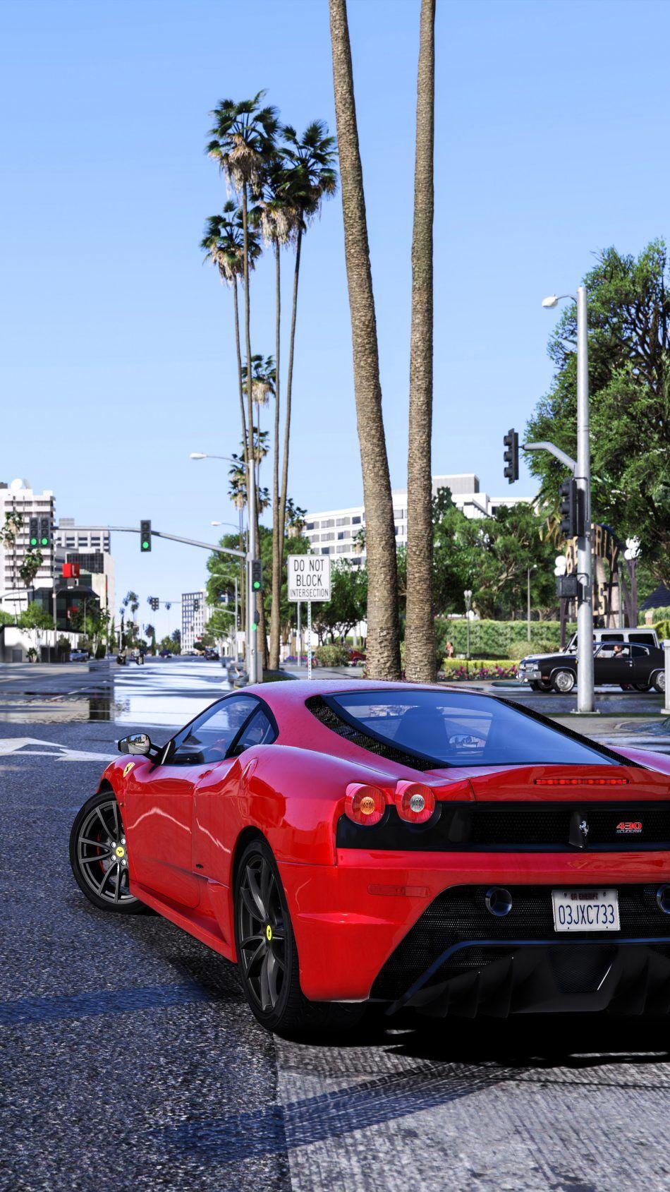 Gta V Red Ferrari 4k Ultra Hd Mobile Wallpaper Gta Ferrari Gta Pc