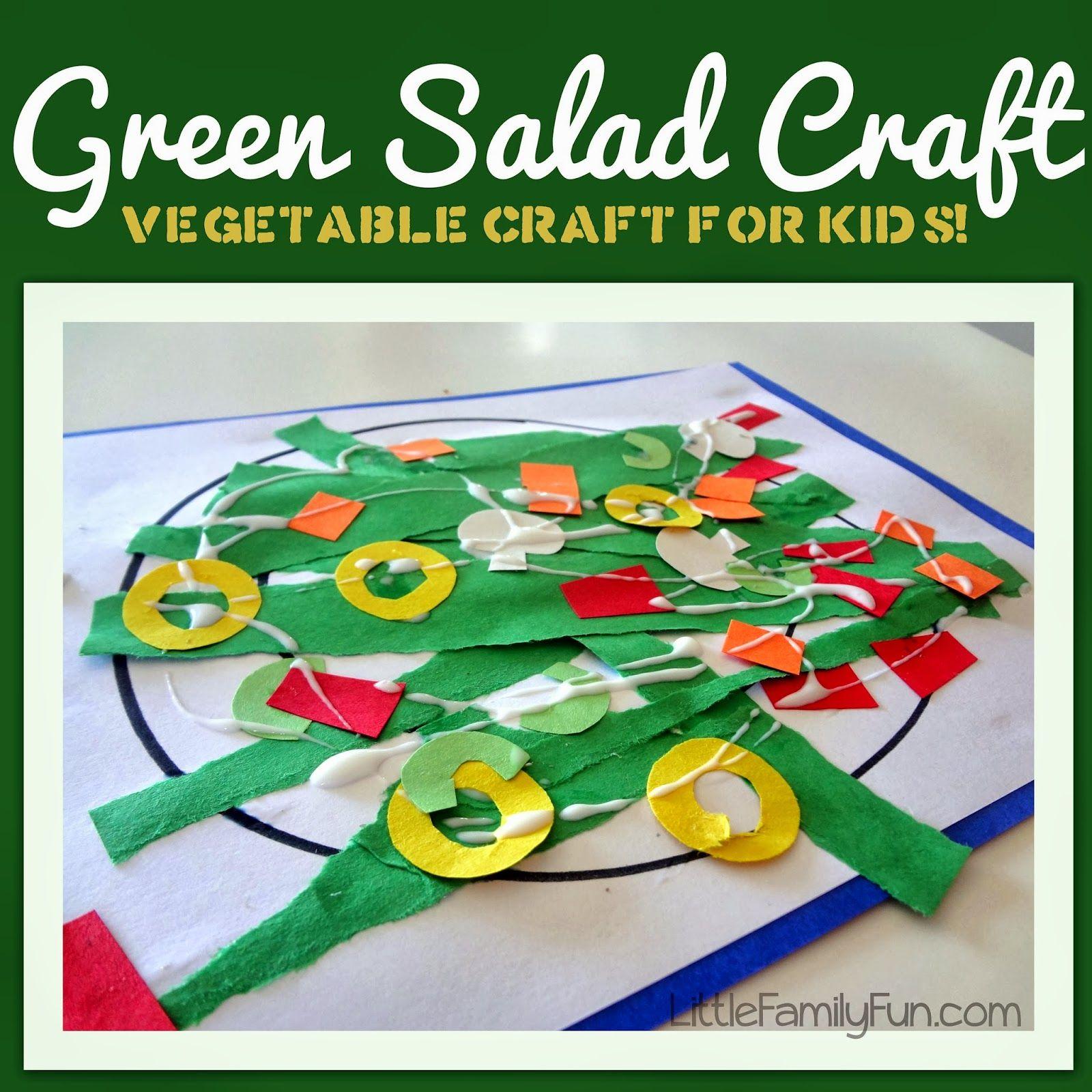 Little Family Fun: Green Salad Craft | farmer\'s market theme ...