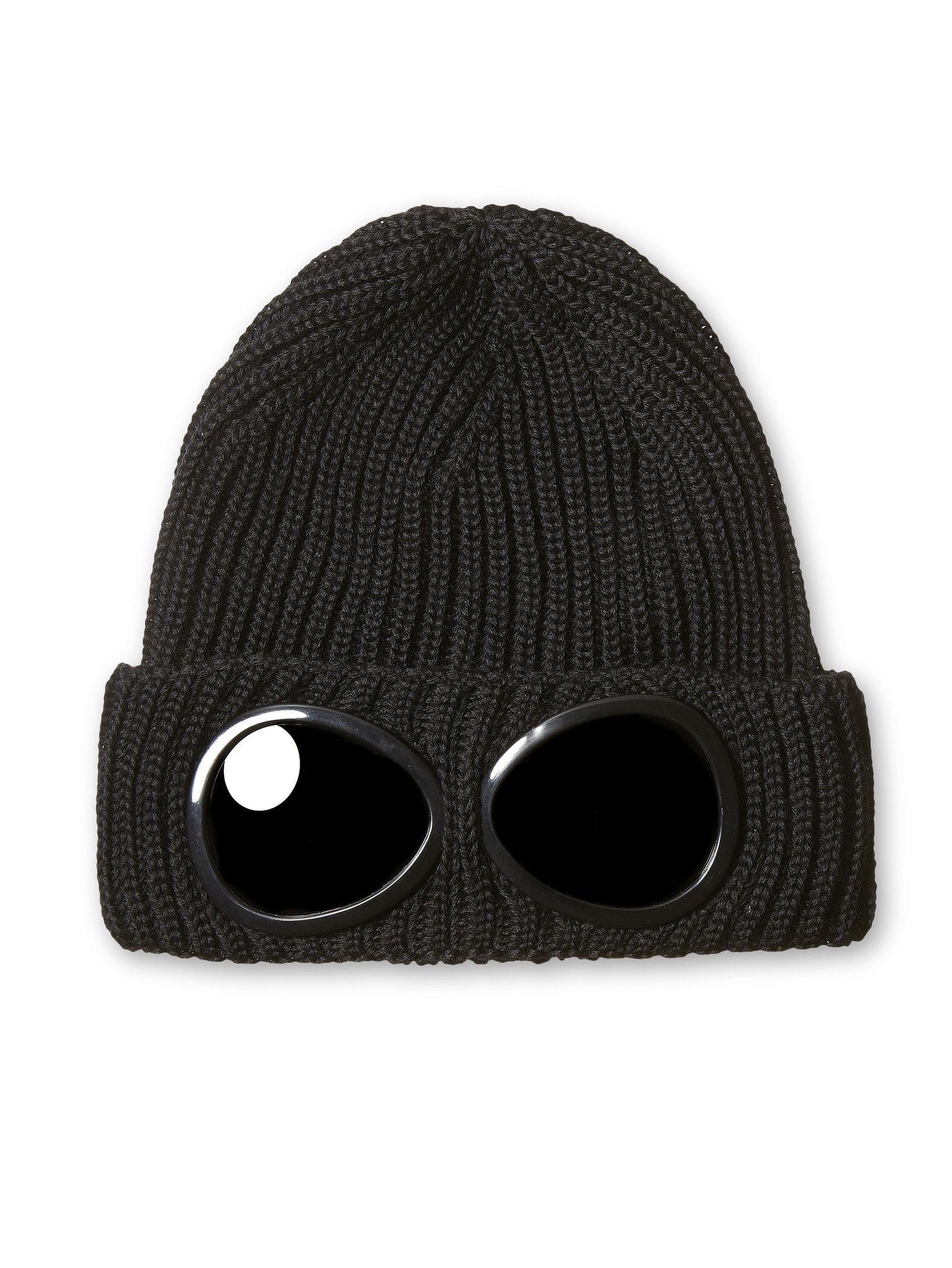 c473cbe40a9 C.P. Company Merino Wool Goggle Hat in Black