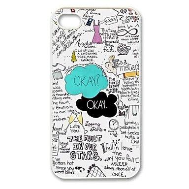 Couleur mixte - Couvre arrière - pour iPhone 4/4S ( Noir/Blanc/Multicolore , Plastique ) – EUR € 3.99