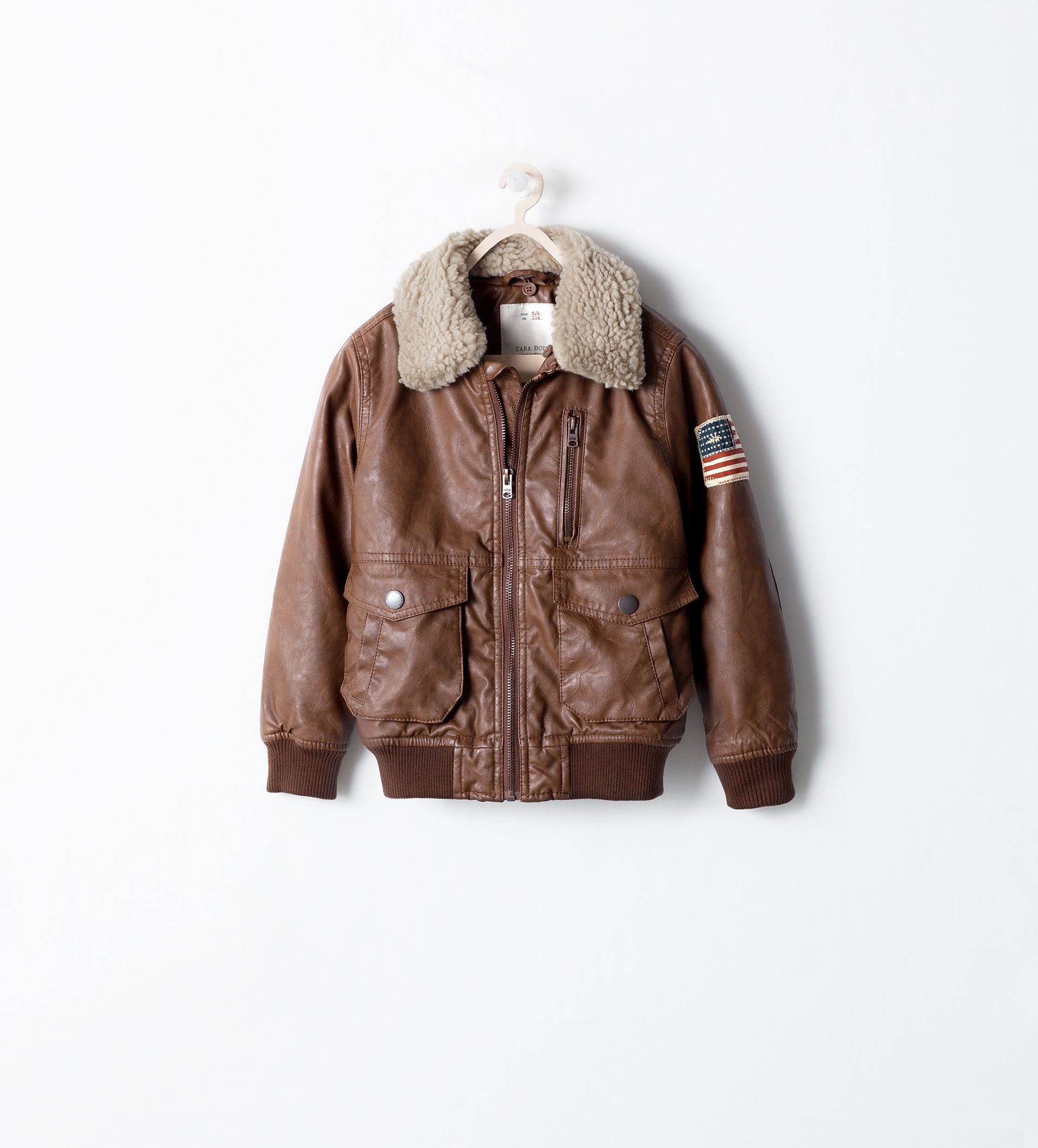 Image 1 Of Aviator Jacket With Patch From Zara My Little Dude