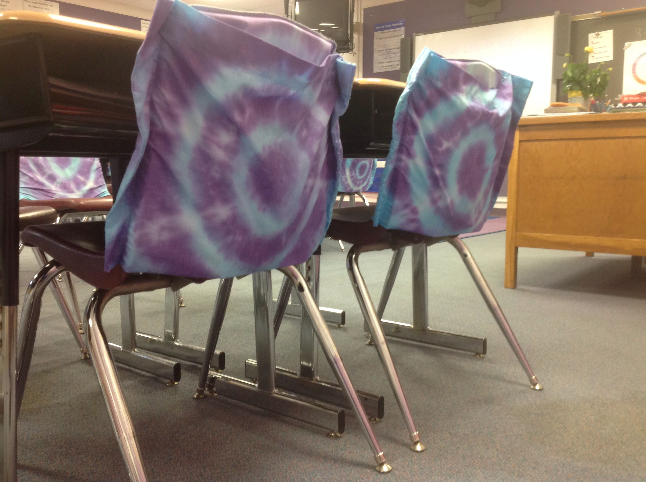 Classroom Chair Pockets We made these using plain white