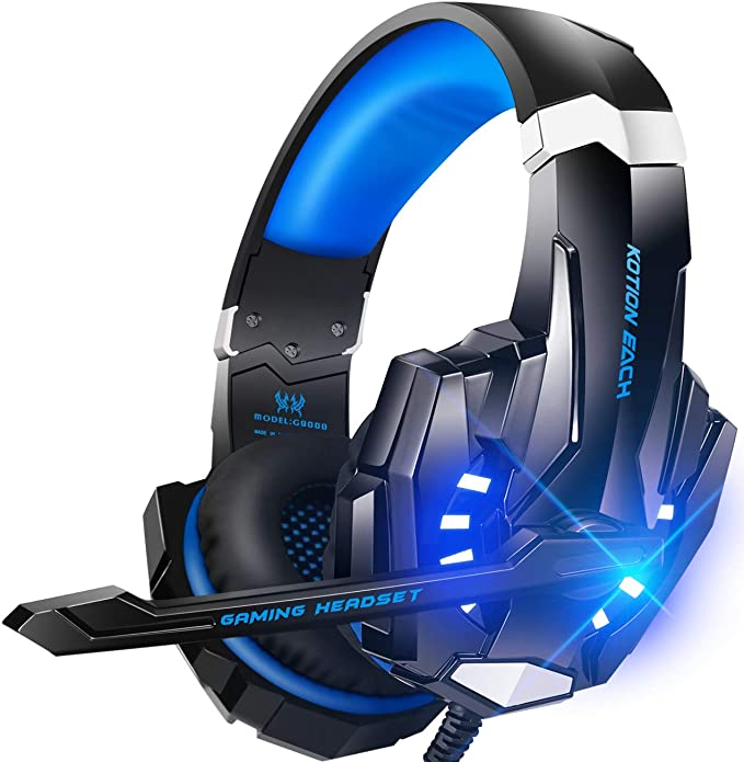 Amazon Com Bengoo G9000 Stereo Gaming Headset For Ps4 Pc Xbox One Controller Noise Cancelling Over Ear Headphon Xbox One Headset Ps4 Headset Gaming Headset
