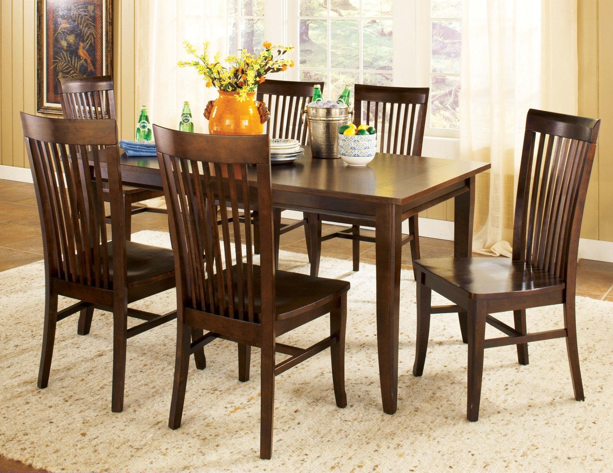 Angel Espresso 7 Piece Set Kitchen Table Settings Dining Room