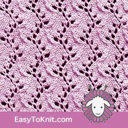 Eyelet Lace 34: Traveling Vine | Easy to knit #knittingetitches #eyeletlace