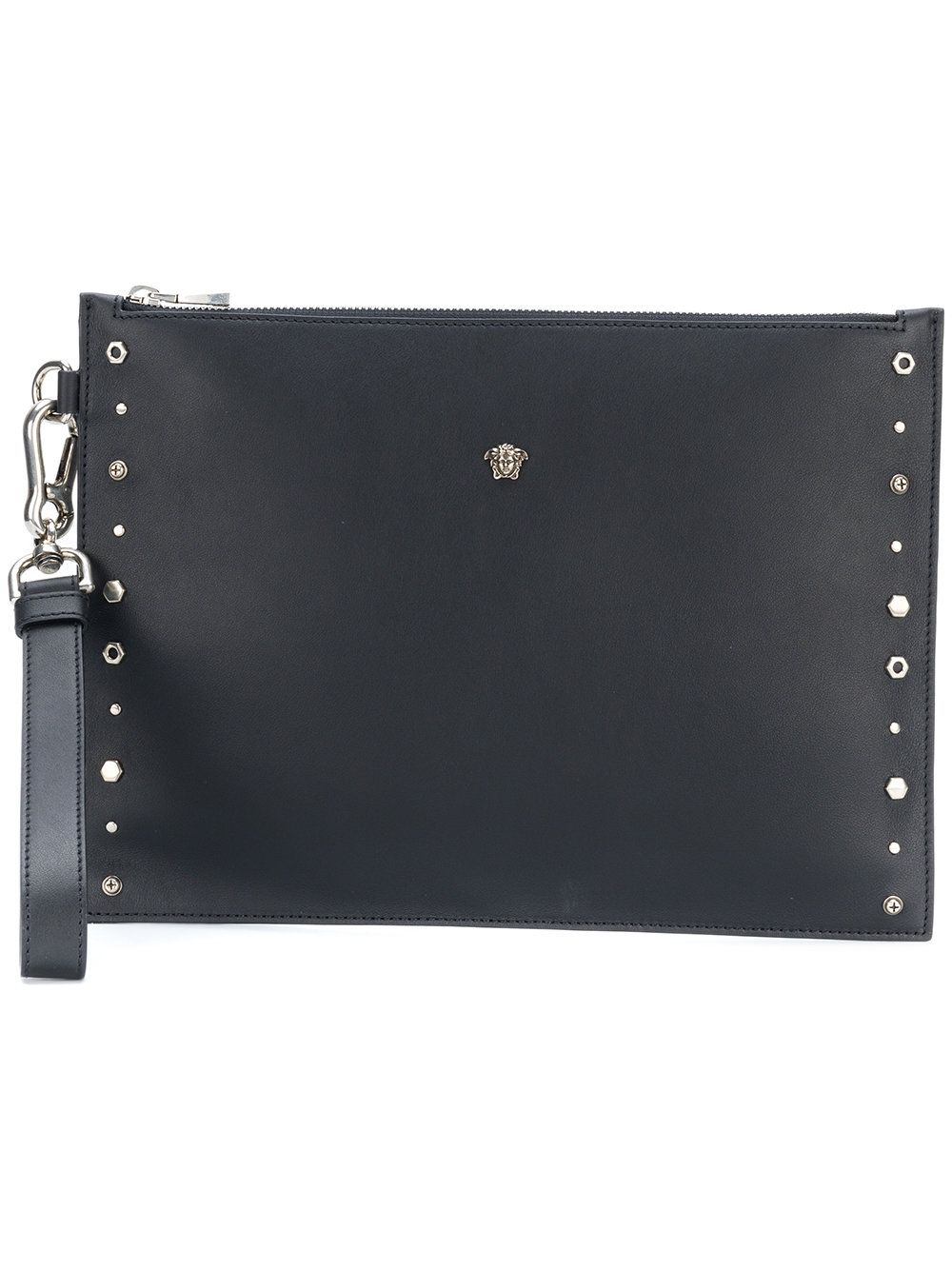 6fe79c7105a2 VERSACE BLACK.  versace  bags  shoulder bags  clutch  leather  hand ...
