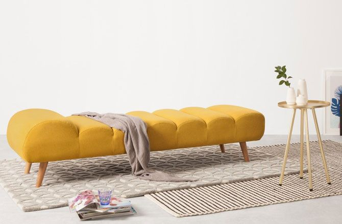 Midcentury Style Caterpillar Day Bed At Made Returns In Bold Yellow