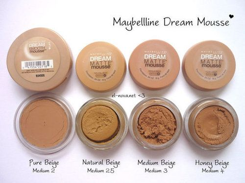 dream matte mousse maybelline