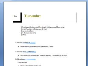Descargar Curriculum Vitae Para Trabajo Simple Formato De Curriculum