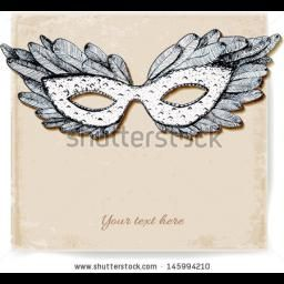 Vintage Card With Festive Venetian Mask Realistic Shadow Vector Illustration Vintage Cards Diy Mask Vintage