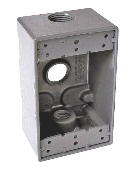 Bell 5324 0 3 Outlet Box Aluminum Gray 1 Gang Outdoor Box Ceiling Art Ceiling Fan Downrod